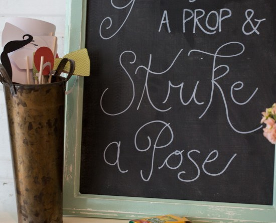 wedding decorative chalk board