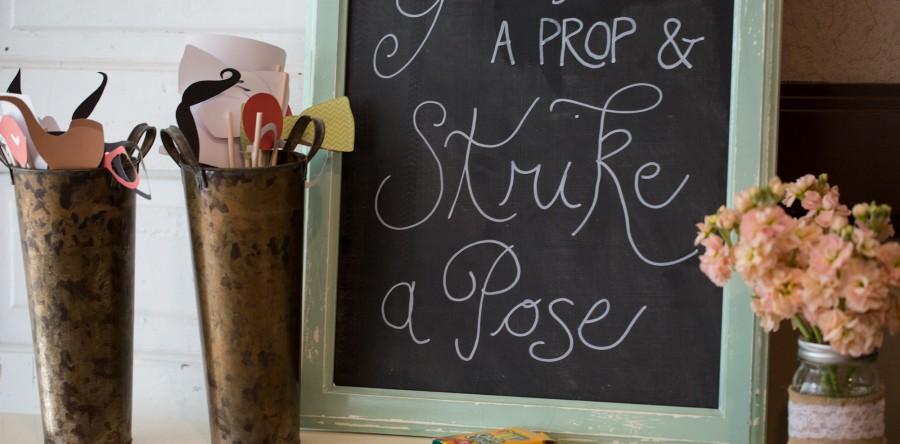 wedding decorative chalk board