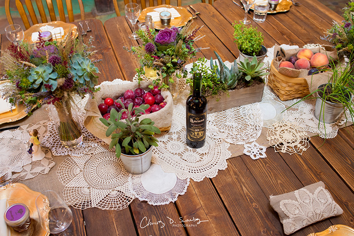 wedding dinner table