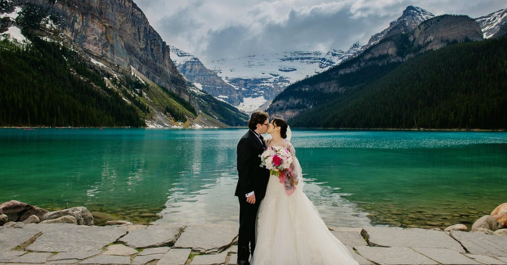 Slide 03: Lake Louise wedding